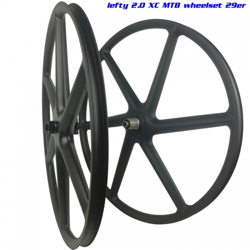 "[CB29XC30] Lefty 1.0/2.0 29er 30mm Width Carbon Mountain 29"" Wheel Six-Spoke Clincher Tubeless Compatible 6 spoke mtb wheel"