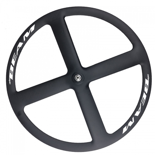 [CB23ZS4] carbon 4 spoke wheels 700c bicycle carbon road/track/fixed disc four spoke wheels