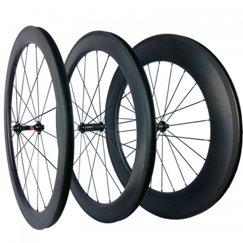Free shipping 266g R03 hubs carbon wheels 20mm 30mm 35mm 38mm 40mm 45mm 50mm 55mm 60mm 75mm 80mm 88mm carbon bicycle wheels 700C road bike tire 700c*2