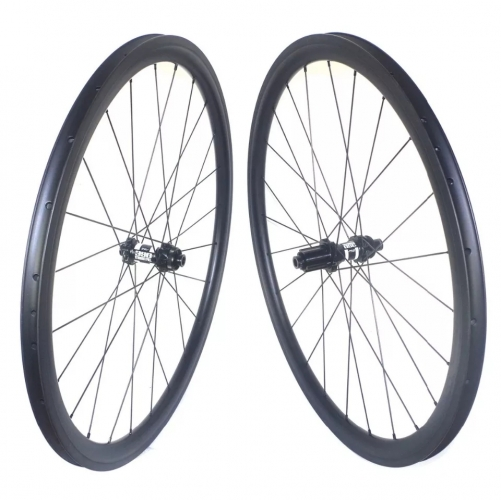 Carbonbeam Gravel Brake Carbon wheels Road Bike 700C/650B Carbon Clincher Tubeless compatible bicycle wheels
