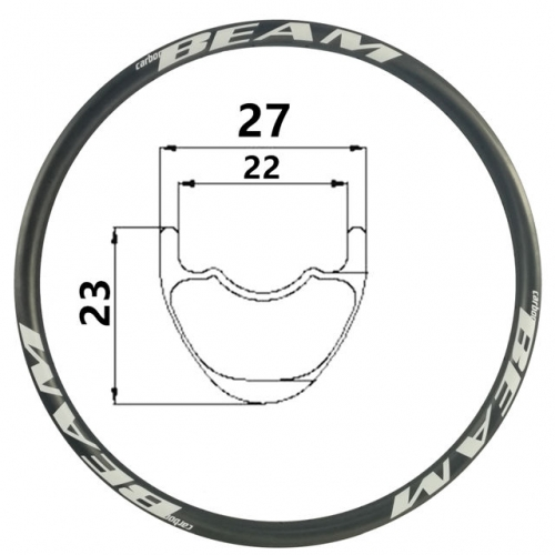 [CBXC27SL] ULTRALIGHT Only 255g 27mm Width 29er 650B Carbon Fiber Mountain Bike Clincher Tubeless Compatible mtb rims