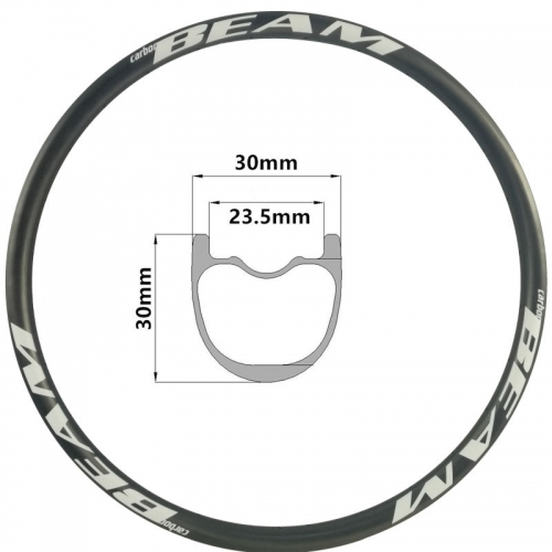 [CBXCAM30] Premium Only 375g 30mm Width 29er 650B Carbon Fiber Mountain Bike Clincher Tubeless Compatible mtb rim
