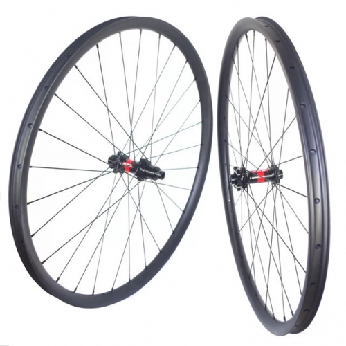 Free Shipping 33mm wide 25mm depth internal 27mm DT240S DT350S Carbon Mountain Bike 29er Carbon wheels Tubeless bicycle mtb wheelset