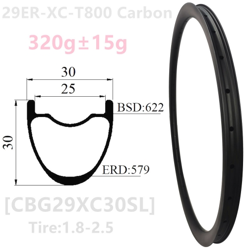 [CBG29XC30SL] 2021 New T1000 Premium Only 315g 30x30mm internal 25mm  29er Carbon Fiber Mountain Bike wheel Hoolkess Tubeless Compatible 29er XC mtb r