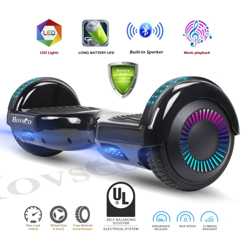 Hovsco HY-A02  Electroplating Bright Black Two-wheel Hoverboard