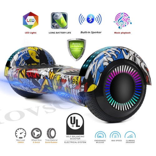Hovsco HY-A02  Graffiti Mosaic Engine Two-wheel Hoverboard