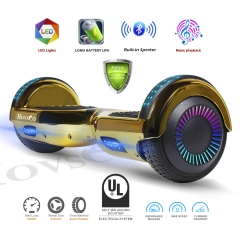 Hovsco HY-A02  Gold Chrome Two-wheel Hoverboard