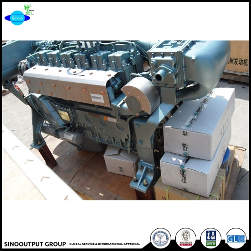 China Marine Motor mit CE 270hp Marine Diesel Engine WD615 seiser For Sale