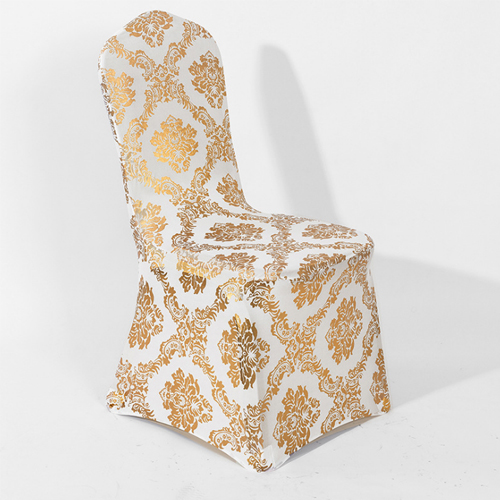 stamping spandex chair cover for wedding in FEIBXIXUAN
