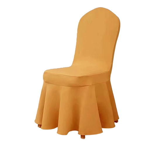 yellow chair cover