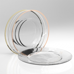 rim glass charger plate in FEIBIXUAN