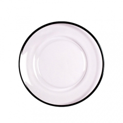 black rim glass charger plate in FEIBIXUAN
