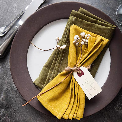 cotton mixed linen table napkin