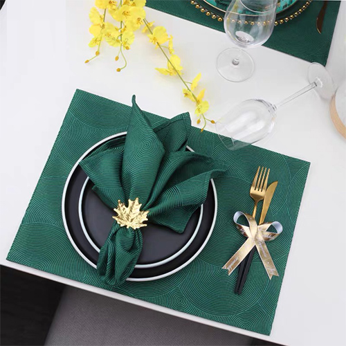 Polyester banquet table placemat