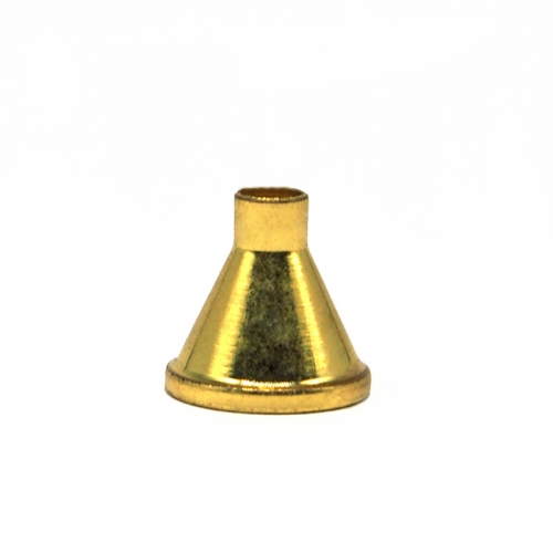 ROCOCO  SNUFF FUNNEL SMALL BRASS  18 K GOLD PLATING