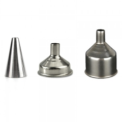 SNUFF FUNNEL THREE-PIECE BIG MEDIUM SMALL STAINLESS STEEL