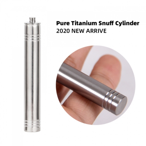 Pure titanium snuff bottle cylinder stly