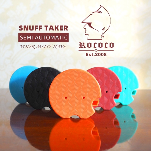 Snuff Taker- ROCOCO Semi automatic snuff box-ABS 5 colors-Ebony and Brass