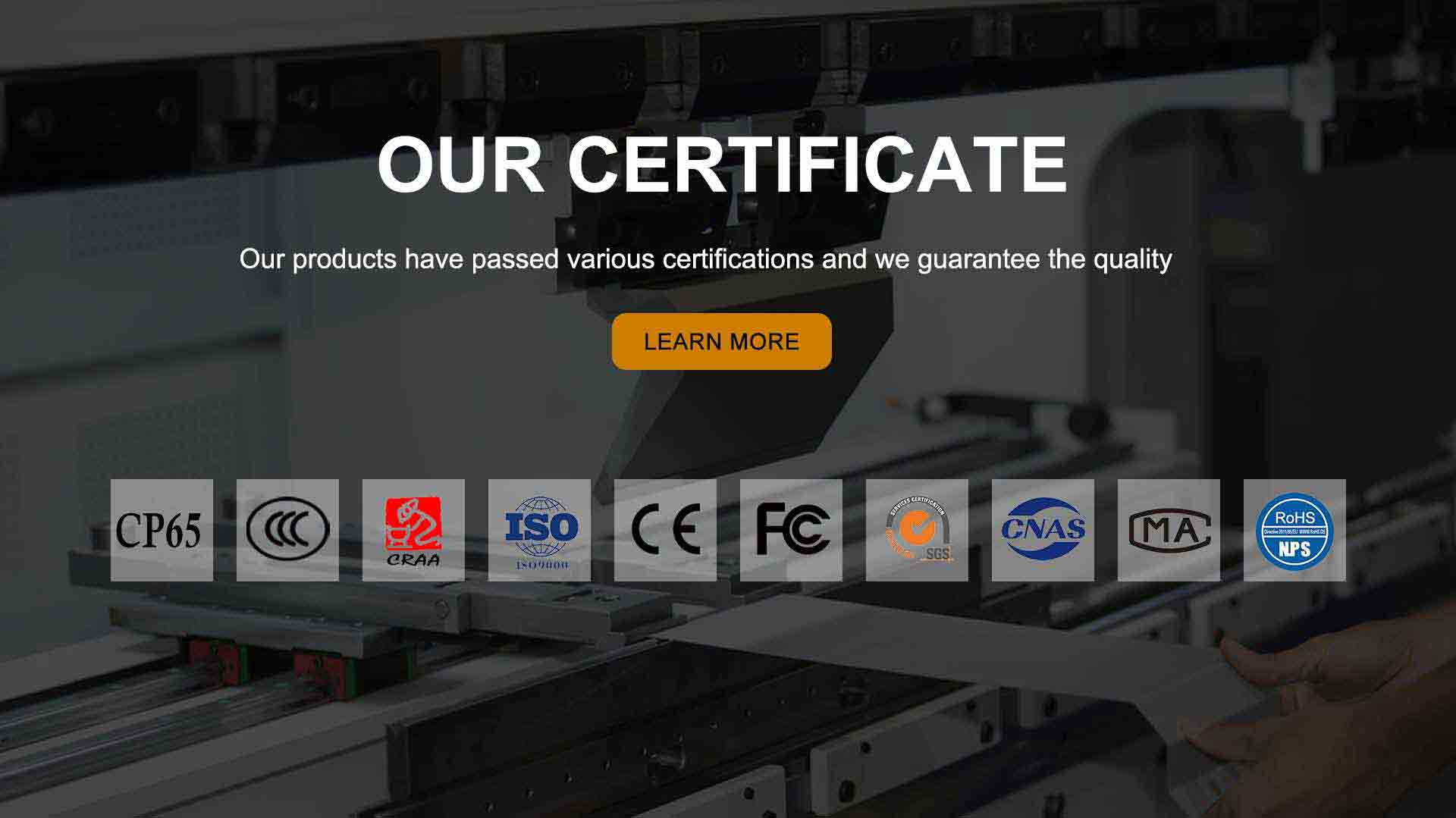 The company certificate of Baoding Yesncer Heating & Cooling Equipment Manufacturing Co., Ltd Factory