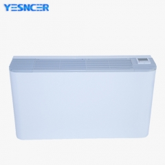 Universal exposed floor standing or wall mounted fan coil unit