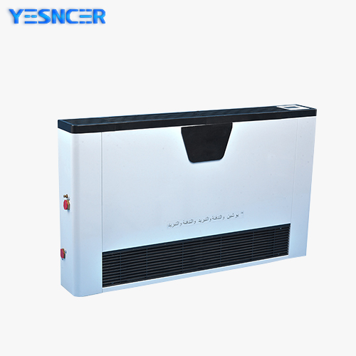 Ultra-thin wall hanging water heating and cooling system fan coil unit radiator for home