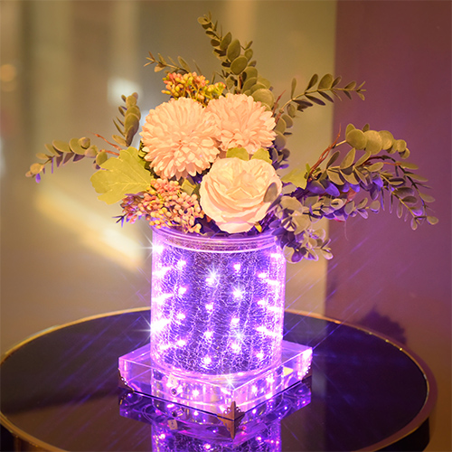 Black and Purple LED luminous vase
