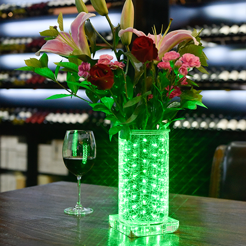 Green luminous vase~Hope (High Round)