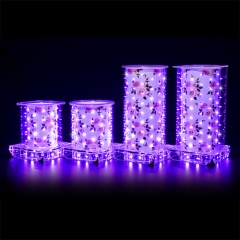 Purple Rose luminous vase (Short Round )