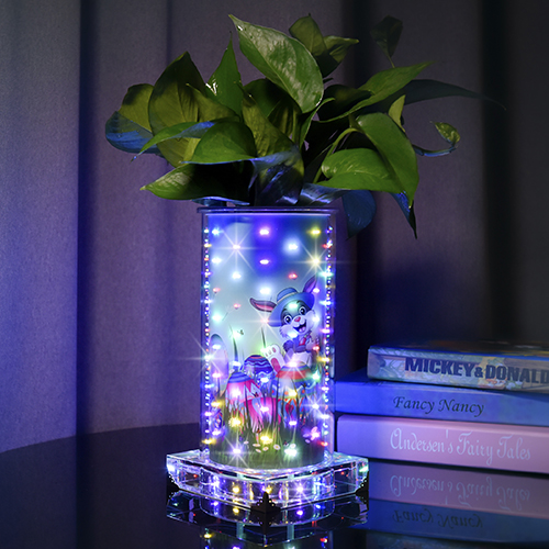 Colorful luminous vase for Ester(High Round )