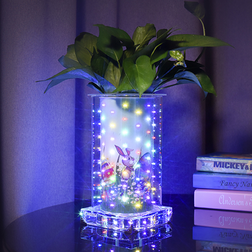 Colorful luminous vase for Ester(Tall Square )