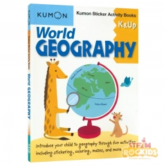 Kumon - World Geography Sticker Activity Book K and Up
