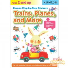 Kumon - Trains Planes and More Step-By-Step Stickers