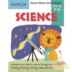 Kumon - Science Sticker Activity Book Pre K and Up