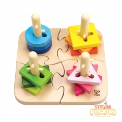 Hape - Creative Peg Puzzle (16 Pieces)
