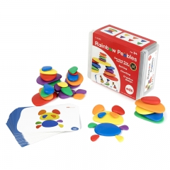 EDX Education Rainbow Pebbles with Container