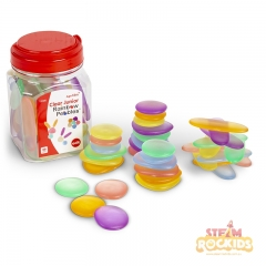 EDX Education - Junior Rainbow Pebbles (Clear)