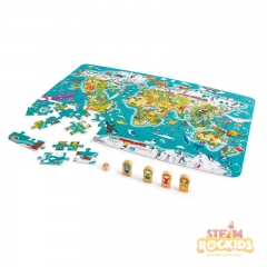 Hape - 2-in-1 World Map Puzzle