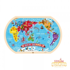 Tooky Toy World Map Puzzle (37 Pieces)