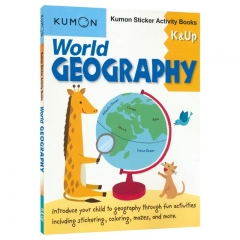 Kumon World Geography Sticker Activity Book K and Up