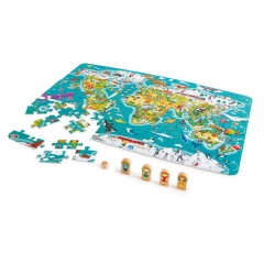 Hape 2-in-1 World Map Puzzle