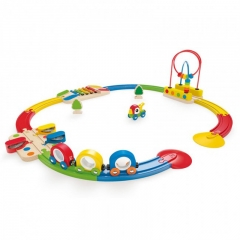Hape Sights and Sounds Railway Set (19 Pieces)