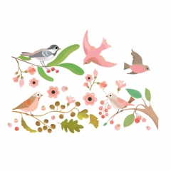 Djeco - Window Stickers (Birds)