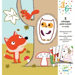 Djeco - Dot To Dot Colouring (Too Cute)