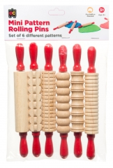 Mini Pattern Rolling Pins 6 Pieces
