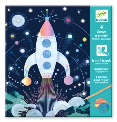 Djeco - Scratch Cards (Cosmic Mission)