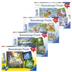 Ravensburger 3 x 49 pieces Jigsaw Puzzle for 5 Year+ (Individual Set)