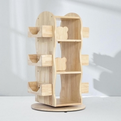 [PREORDER] MesaSilla Revolving Solid Wood Bookcase (STOCK IN 28/10/2020)