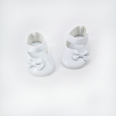 White Shoes with Bow for 38cm Miniland Dolls