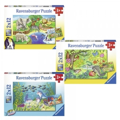 Ravensburger 2x12 Jigsaw Puzzle for 3 Year+ (Individual Set)
