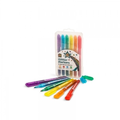 Glitter Markers Pack of 6